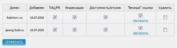 Мониторинг сайта - seogadget.ru